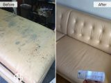 Furniture aniline top coat finished leather restoration peeling removal dyeing
