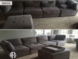 Sectional ushcions pillows adding replacing padding foam cores down shape comfort support sofa