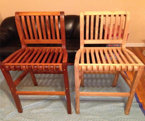 Teak chair indoor outdoor patio furniture finishing maintenance repair
