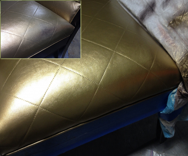 Re-upholstery dyeing colro change leather vinyl fabric
