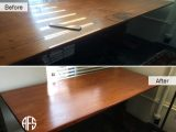 Desk table top refinishing color stain finish resistant change