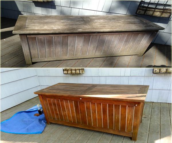 Outdoor wood finishing teak bench