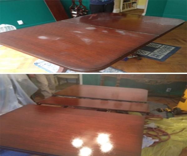 Dining table heat mark removal polish