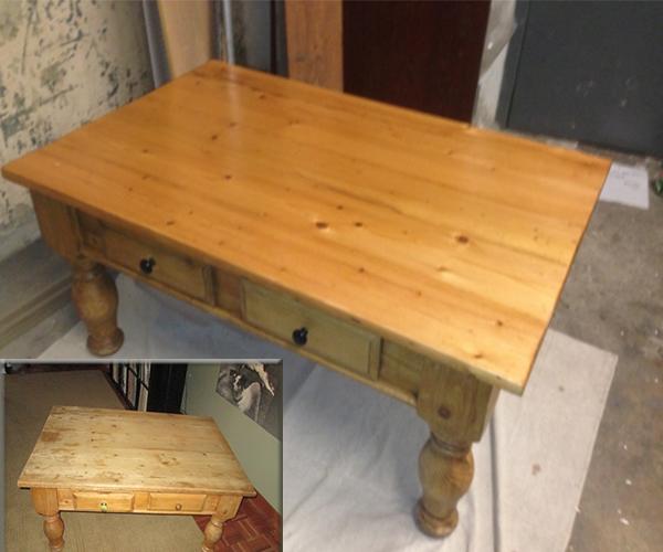 Coffee kitchen table refinishing