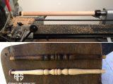 Wood turning lathe duplicate spindle rung leg furniture parts manufacturing